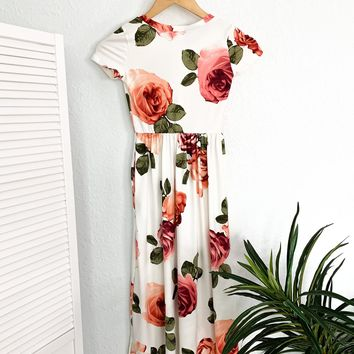 Kids-Any Day Now Maxi Dress-Ivory