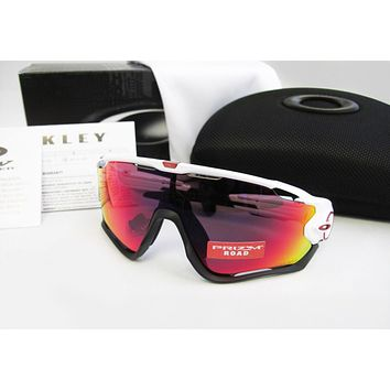New Oakley JAWBREAKER Polished White / Prizm Road Sunglasses OO9290-05