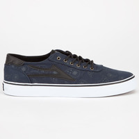 Lakai Manchester Lean Mens Shoes Navy Paisley  In Sizes