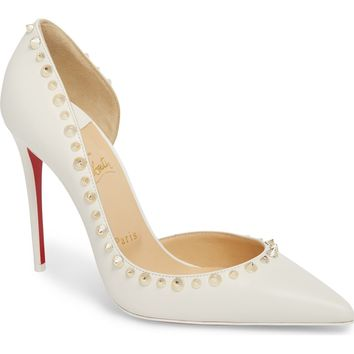 Christian Louboutin Irishell Spiked Half d'Orsay Pump (Women) | Nordstrom