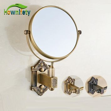 Antique Brass & Oil Rubbed Bronze Bathroom Make Up Cosmetic Beauty Vanity Mirror Wall Mount