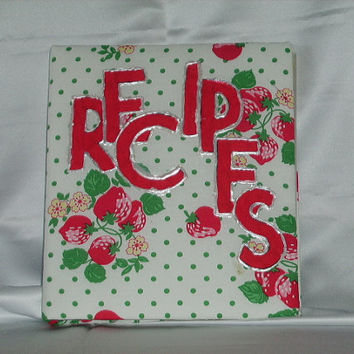 Recycled Strawberry Recipe Book by timelesstreasures50 on Etsy
