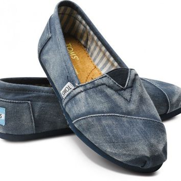 Last Chance - Navy Stone-Washed Twill Classics | TOMS.com