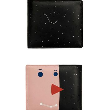 Yizi Leather Folded Wallet | Galaxy