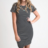 What A Stripe Bodycon Dress