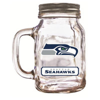 Duckhouse 16 Ounce Mason Jar - Seattle Seahawks