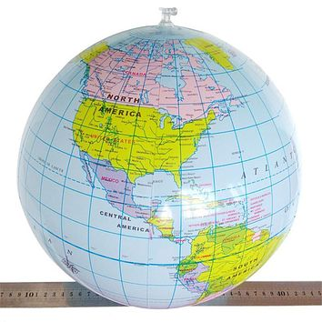 Educational Toys for Children 1 pc 40CM Inflatable World Map Globe Teach Geography Toys for Kids Balloon Beach Ball