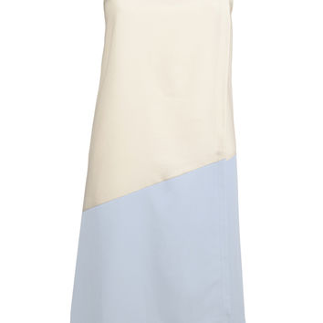 Nostalgia Contrast Layered Shift Dress (Blue)