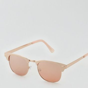 AEO Women's Classic Rosegold Clubmaster (Rose Gold)
