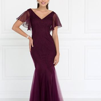 Long evening gown with sleeves  gls 1576