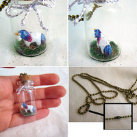 Unicorn Necklace Tiny Bottle necklace by FlowerLandShop on Etsy