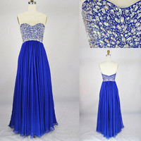 Lovely Sweetheart shinning Crystal Prom Dresses Party Dresses Bridesmaid Dresses Evening Dresses 2014 Formal Party Dresses