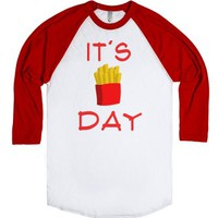 Fry-day-Unisex White/Red T-Shirt
