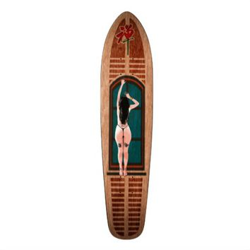 Pin-up Zen Flower 01 Skateboard