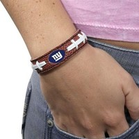 New York Giants Brown Football Bracelet