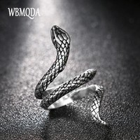 Fashion Snake Rings For Women Plating Silver Heavy Metals Punk Rock Ring Vintage