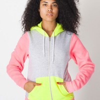 American Apparel - Unisex Flex Fleece Three-Tone Zip Hoodie