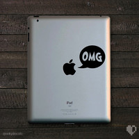 OMG Apple Macbook Decal and iPad Decal