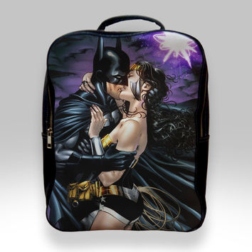 Backpack for Student - Batman and Wonder Woman Bags