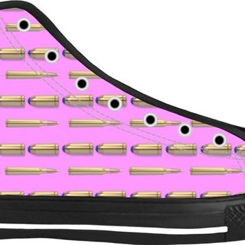Bullets Shoes Black/Pink High Tops