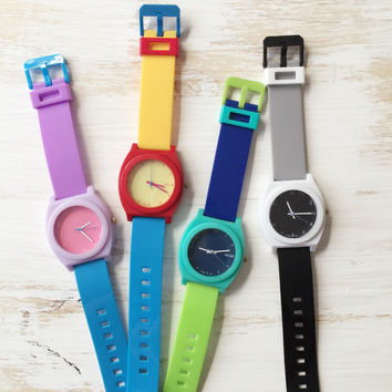 Cute Color Fashion Plastic Band Watches #W94