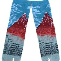 RED MOUNT FUJI TABI SOCKS