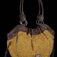 Wrangler- Deser Flower Tote | Wrangler Purses and Handbags | Tooled Purses | Western Purses | AJ's Western Wear