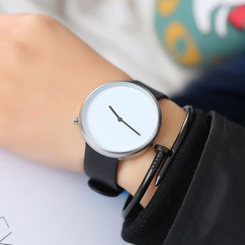 LEXAPE Minimalist Style Men Women Fashion Casual Leather Watch Ladies Creative Quartz Watch Male