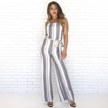 East Coast Social Stripe Jumpsuit