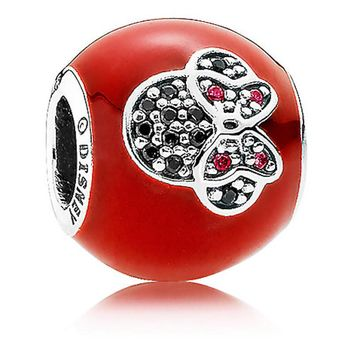 Disney Parks I Love Minnie Mouse Charm by Pandora Jewerly Charm New