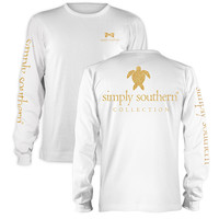 Simply Southern Preppy Gold Turtle Long Sleeve T-Shirt