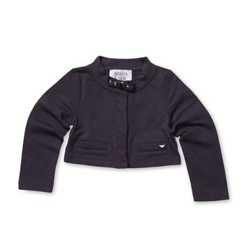 Armani Junior Welt Pockets Blazer - Black -