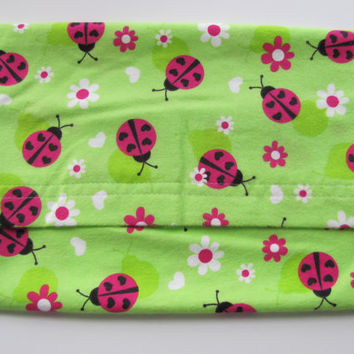 Lady Bug Hot or Cold Therapy Microwave Heating Pad, Lavender Aromatherapy Scented or Unscented, Washable Flannel Cover