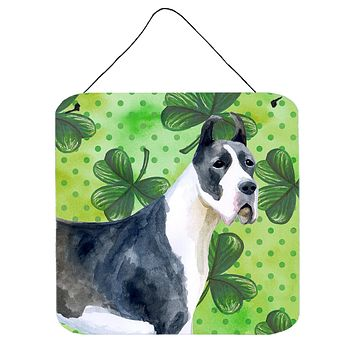 Harlequin Great Dane St Patrick's Wall or Door Hanging Prints BB9817DS66