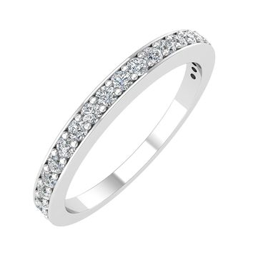IGI Certified 14K Gold Wedding Diamond Band Ring (1/4 Carat)