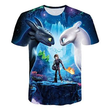 34745376 Pocket Toothless T-Shirt Men's Cute Tops How to Train Your Drago