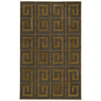 Rizzy Home Vicki Payne Collection Greek Key Rug in Grey