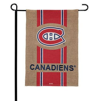 "Montreal Canadiens 12 1/2"" x 18"" 2-Sided Burlap Garden Flag"