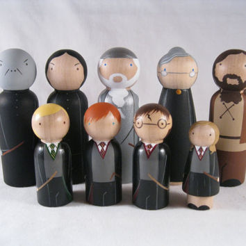 The School of witchcraft and wizardry Peg Doll by knottingwood