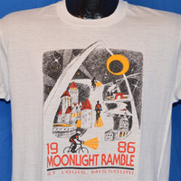 1986 Moonlight Ramble St. Louis Missouri Bicycle Ride t-shirt Medium