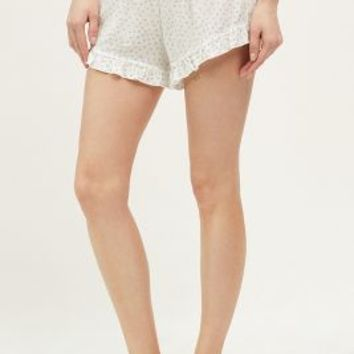 Saturday/Sunday Ruffled Floral Sleep Shorts