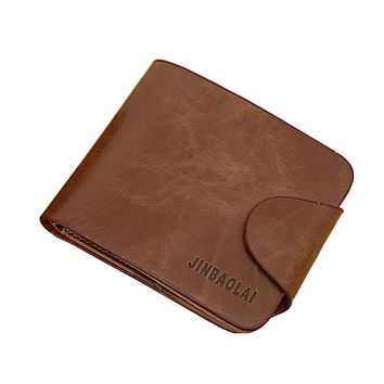 Business Fashion Mens Wallets Luxury Retro Mens Leather Bifold Wallet Credit ID Card Slim Purse Card Holder carteras mujer