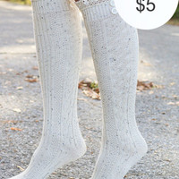 Fairytale Fields Knee High Boot Socks With Lace Trim & Button Details