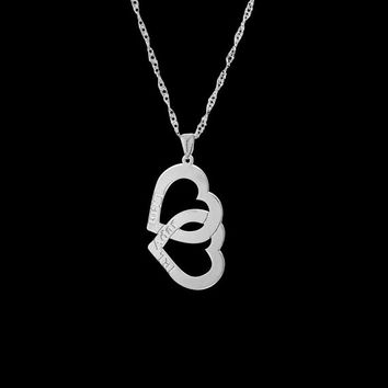 Personalized Heart Necklace - Heart Engraved Necklace - Heart Name Necklace - Custom Heart Necklace - Personalized Name Necklace - BFF Gift