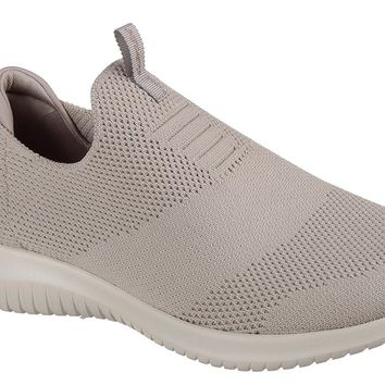 Skechers Taupe Ultra Flex - First Take Walking Shoes