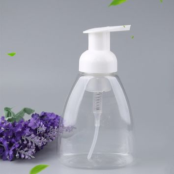 Hot Hand Pump 300ml Plastic Bathroom Hotel Liquid Soap Foam Dispenser Clear Foam Make Up Shampoo Lotion Containers