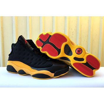 Air Jordan 13 Retro Black/yellow Sneaker Shoes | Best Deal Online