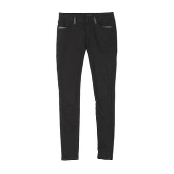 Leather Point Black Jeans by Stylenanda