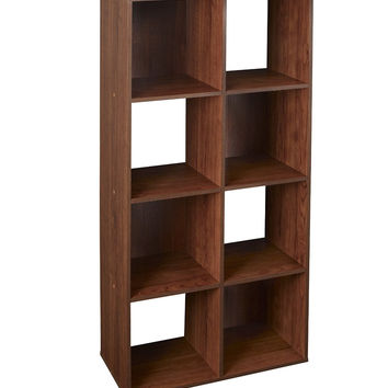 Cubeicals 8 Cube Cubical Storage Display Organizer, Dark Cherry
