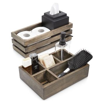 Paradigm Trends 2 Piece Driftwood Bathroom Accessories Set - Bath Collections at Hayneedle